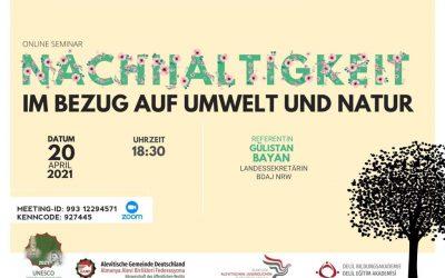 Online Seminar: Nachhaltigkeit im Bezug auf Umwelt und Natur